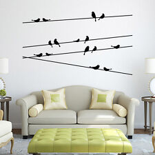 Black Removable Tree Branch Bird PVC Wall Stickers Vinyl Home Decoration Decals