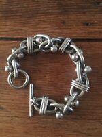 MASSIVE Taxco Puzzle Piece Toggle Bracelet. 94 GRAMS!!
