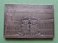 médaille chambre de commerce armentières hazebrouck - argent massif