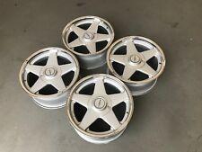 Azev deep dish alloy wheels, 16inch, 4x100 Vw Golf Lupo Sear Arosa Vauxhall etc
