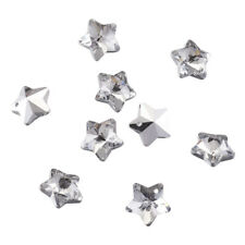100pcs  Clear & Silver Plated Bottom Electroplated Faceted Star Glass Pendants