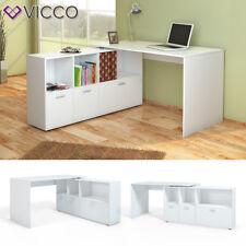 VICCO Eckschreibtisch Flex Computertisch Regal Sideboard Weiß