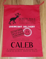 Large Santa Sacks Canvas Burlap Christmas Bags Personalized with names!! 19x27