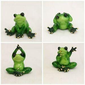 Green Decorative Frogs Shelf Ornaments Figurine