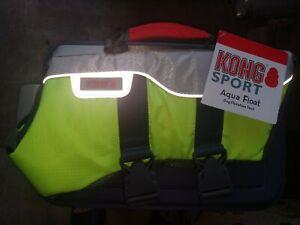 KONG Aqua Sport Md.Pet Vest/Life Jacket Hi Visibility Safety Yellow Reflective