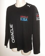 PUMA Oracle L America's Cup Sailing Team USA T Shirt  Black Long Sleeve Large