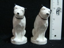 """VINTAGE RCA VICTOR NIPPER DOGS SALT & PEPPER SHAKERS """"HIS MASTERS VOICE"""""""
