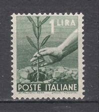 ITALIA 1945 Democratica Lire 1 verde grigio nuovo **