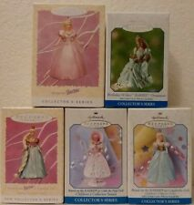 Hallmark 1997 - 1999 Children's Collector Series; #1 - #3 & Final Plus 2 Barbies