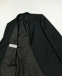 Men's Dark Grey Gieves & Hawkes Suit Jacket 38R Wool Blazer 2 Button Lined A/B
