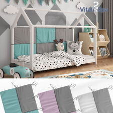 VITALISPA Bettrückwand Wiki Hausbett Kinderbett Juniorbett in 3 Farben