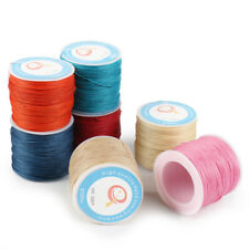 87Yard 0.6mm Waxed Sewing Thread String Round Cord for Leather Stitching Crafts