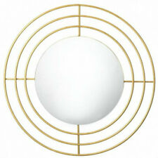 Modern Circles Metal Gold Wall Mirror Home Decor New
