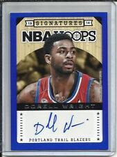 Dorell Wright 13/14 Panini Hoops Blue Autograph #11/25