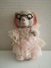 Simba Bärenwald Elefant Dame Frau rosa Rüschenkleid Gala Brille 11cm Hoch
