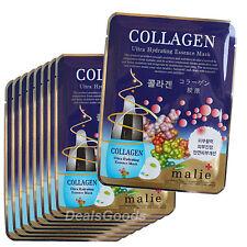 Collagen 11 pcs Face Mask Pack Sheet Moisture Essence Facial Skin Care Korean