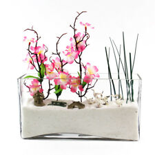 "Clear Square Rectangular Glass Vases H-5"" Open 10""x 3"" Wedding Home Decor - 8pcs"