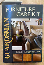 NEW Guardsman 6-pc Furniture Care Kit for Fabric Leather & Wood
