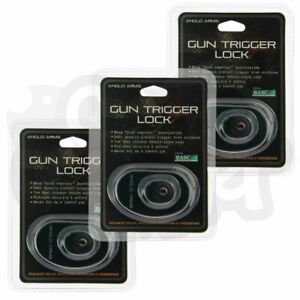 3 X ANGLO ARMS STEEL GUN TRIGGER SAFETY LOCK SHOOTING HUNTING AIR RIFLE 2 KEYS