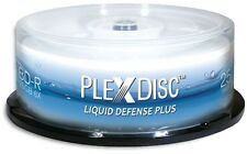 25-Pak PlexDisc 6X =Liquid Defense Plus= Glossy Water-Resistant Inkjet Hub BD-Rs