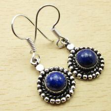 New listing 925 Silver Plated Lapis Lazuli ANTIQUE STYLE Women's Earrings 3.6 cm Jewellery