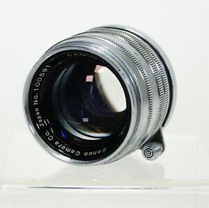 Vintage 1951 Canon SERENAR 50mm f: 1.8 Screw Mount Lens Japan #100591 w Cap