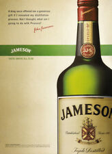 Jameson Whiskey print ad closeup of bottle and quote