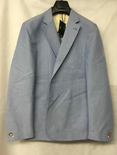 Oliver Sweeney Beaumont Light Blue 100% Cotton 2 Buttoned Jacket. Size L/42.