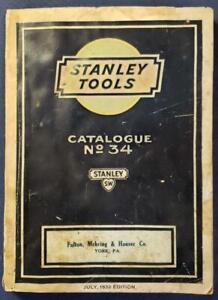 1932 VTG STANLEY TOOLS CATALOG #34 FULTON MEHRING & HAUSER YORK   PA