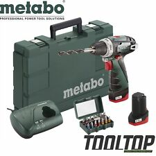 Metabo 10,8V Akku Bohrschrauber PowerMaxx BS Basic Set +2 Akkus +Bit-Box GSR