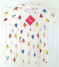 NWT Hanna Andersson 120 6-7 Girls Tunic Top Shirt Floral Ivory