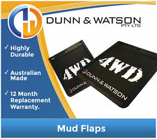 """4X4 / 4WD MUDFLAPS 229MM WIDE X 254MM DROP PAIR MADE IN AUSTRALIA (9"""" X 10"""")"""