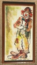 Vintage Clown Art Painting by Nino 1959   33