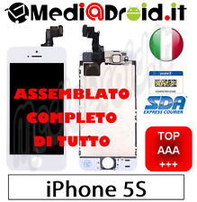 APPLE IPHONE 5S BIANCO DISPLAY LCD SCHERMO VETRO COMPLETO ASSEMBLATO ORIGINAL
