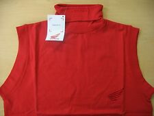 GENUINE HONDA SLEEVELESS POLO NECK COTTON SHIRT TOP RED XS S M L 10 12 14 16 NEW