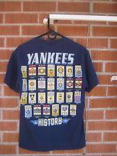Pre-Owned NY YANKEES - Championship History Men's Medium T-Shirt scoreboard
