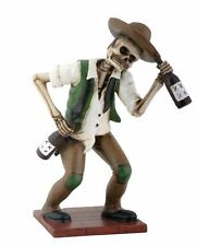 El Boracho Drunk Western Skeleton Day of the Dead Dia de Los Muertos Figurine