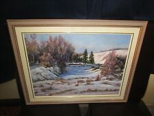 Original Oil Painting Canadian Jean Chubb Sturgeon River