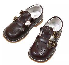 NIB L' Amour Beatrix English Double Buckle Brown Maryjane Shoes Big Girl Size 13