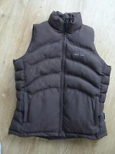 MARK TODD ladies dark brown padded gilet bodywarmer jacket UK 14 EXCELLENT