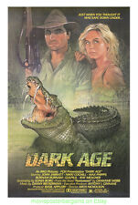 DARK AGE MOVIE POSTER Original 27x41 One Sheet 1987 GIANT CROCODILE HORROR FILM
