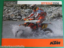 KTM ENDURO 2006 250 400 450 525 EXC 125 200 250 250 300 EXC  CATALOGO BROCHURE