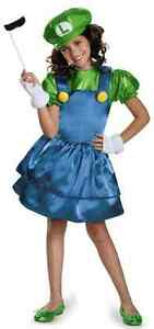 Luigi Girl Skirt Super Brothers Nintendo Fancy Dress Up Halloween Child Costume