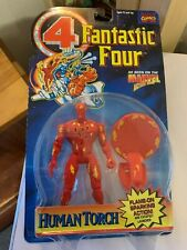 Toy Biz Fantastic Four Human Torch Flame on sparking action and catapult launch!