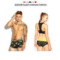 Batman Cotton Couple Underwear Lover Panties Men Boxers Women Briefs Valentine's