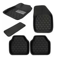 5Pcs/ Set Car Floor Mats Front & Rear Carpet Black Skidproof Mat Pad Protector