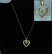 038522ea5191 Collar Corazón 14k Oro Plata Colgante con Circonita 18