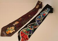 Vintage Collectible Hanna Barbara and Looney Tunes Cartoon Mens Fashion Ties