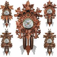 2021 Handcraft Wood Cuckoo Clock House Tree Style Wall Clock Art Vintage Decor
