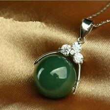 Bead Pendant Emerald Jadeite Green Chinese Necklace Charm Fashion Men Jade for